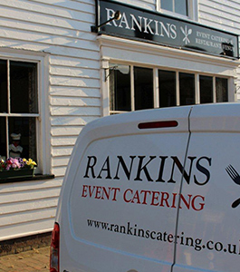 Rankins Catering Sign and Van